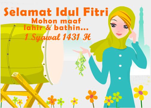 Download 810 Gambar Kartun Lucu Idul Fitri Terbaru